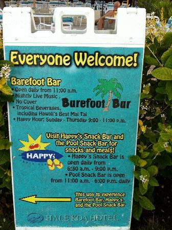 Hale Koa Hotel: Bearfoot bar