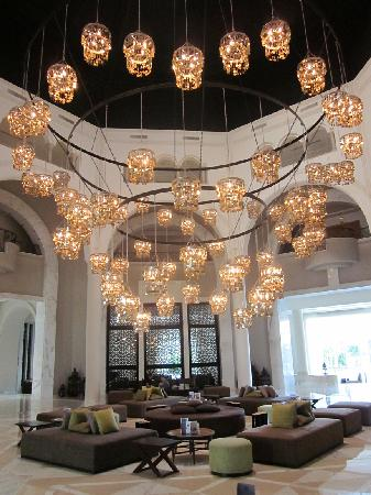 Radisson Blu Palace Resort & Thalasso, Djerba: One of the most elaborate chandeliers I have ever seen hangs in the lobby of this hotel.