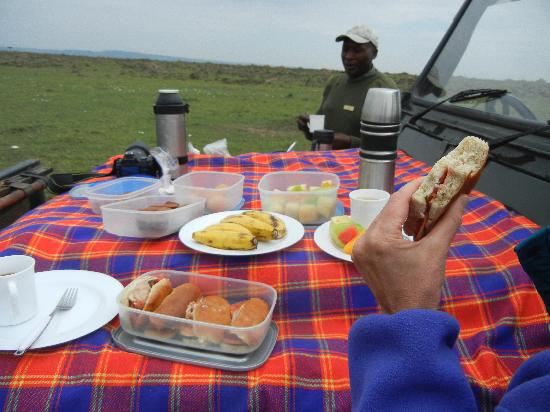Governor's Camp: breakfast in the bush