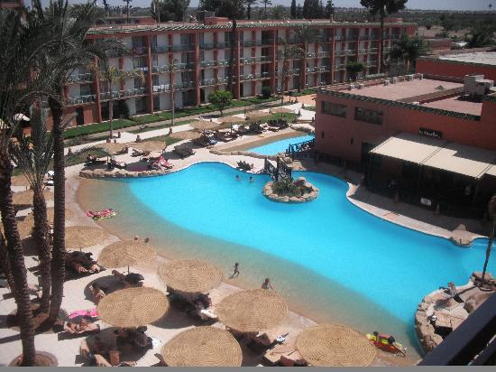 Club Albatros: View of smaller pool from 'Al Riad' building where we stayed