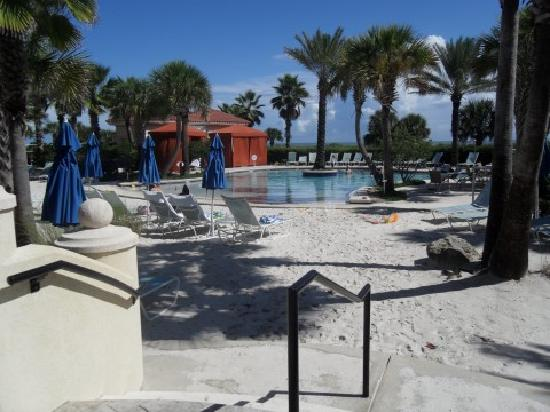 Hammock Beach Resort: Pool with sand leading up to it