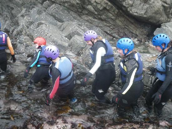 Preseli Venture Eco Lodge: Coasteering!