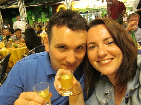 Hotel Plaza: Enjoying a Limoncello!