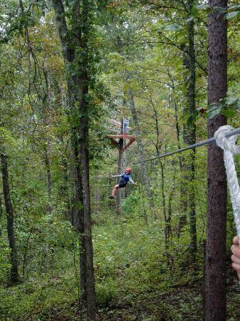 Mammoth Cave Adventures: Swinging through the trees
