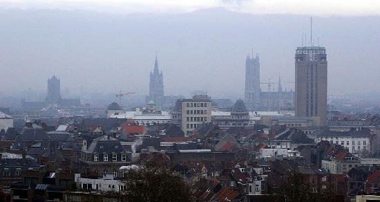 De Boekentoren (The Tower of Books): The four towers of Ghent