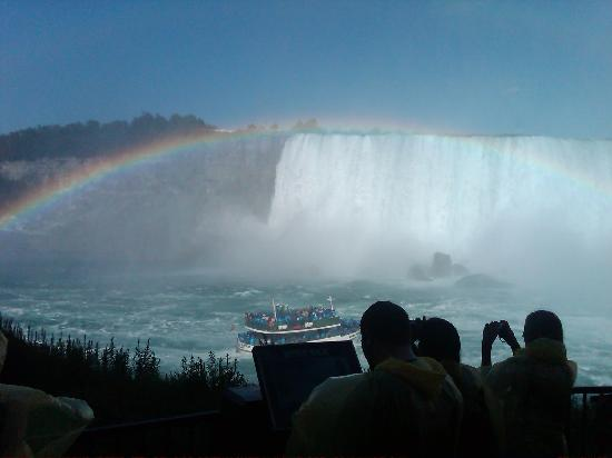 Rainbow from the deck of Journey Behind the Falls
