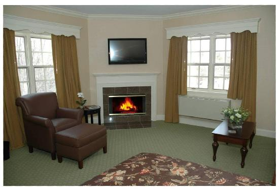 Saxon Inn: We've recently renovated one of our Queen Fireside rooms.