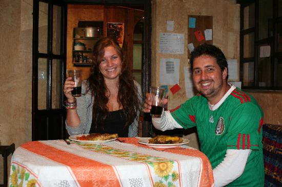 Posada del Abuelito: Simon and Nicole from Australia