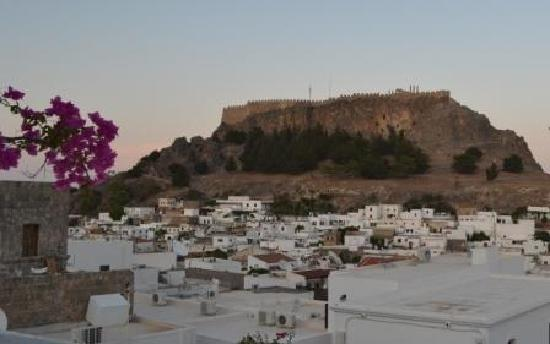 Xenones Lindos: acropolis from the terrace