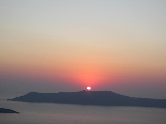 Tamarix del Mar: Sunset from Fira