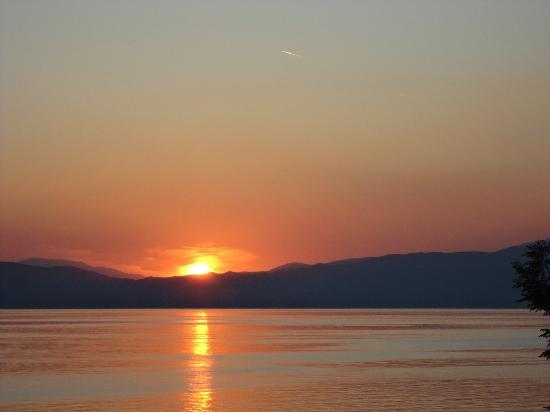 Ohrid, สาธารณรัฐมาซิโดเนีย: Od terasa na Apartmani BAKULE-Pestani