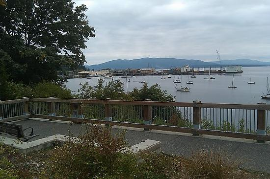 South Bay Trail area at end of pier on Fairhaven side