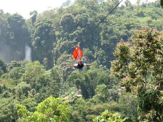 The zip line experience - Picture of Lake Sebu Seven Falls Zipline ...