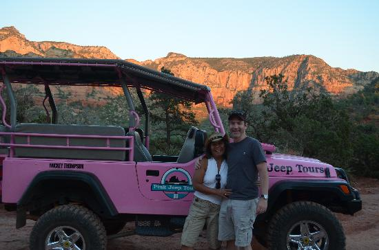 Pink Jeep Tours Sedona: Pink Jeep photo op!