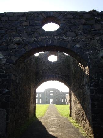 Mussenden Temple: The remains of the Mansion