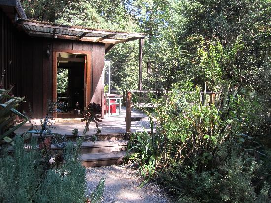 Glen Oaks Big Sur: Outside and deck of cottage cabin