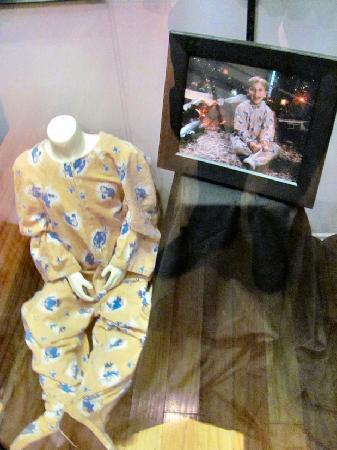 A Christmas Story House: Randy's pajamas he wore on Christmas Day