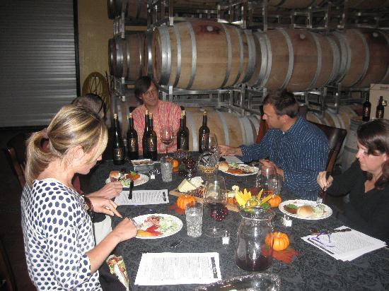 Intimate Wine Tours: Intimate Wine Tour clients enjoying their gourmet picnic lunch at V. Madrone Cellars in the Napa