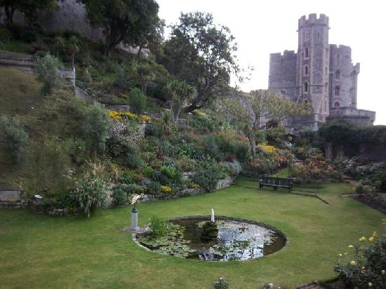 Premium Tours - London Tours: The garden at the base of the Round Tower at Windsor Castle.