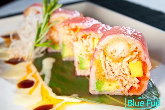 Blue Fuji: Pink Lady Maki sushi medford