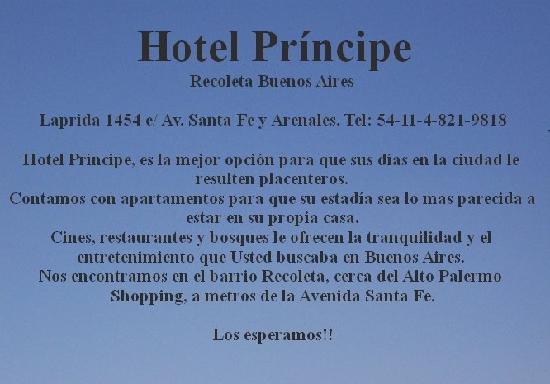 Hotel Principe: Bienvenidos - Welcome
