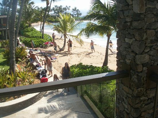 The Mauian Hotel on Napili Beach: View from our Lanai in the afternoon.