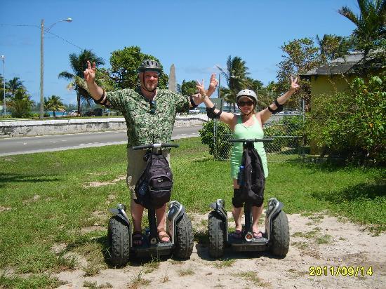 CST Bahamas Tours: My husband and I on the Segways