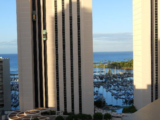 Marina Tower Waikiki: Partial View of Marina