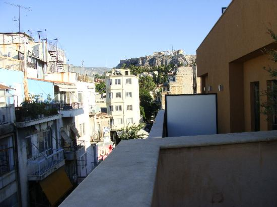 O&B Athens Boutique Hotel: View from terrace