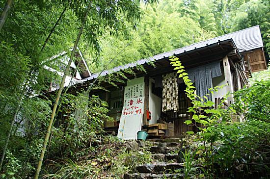 Kawazu Nanadaru Waterfalls: コースの脇の石段を上がると肉月があります。