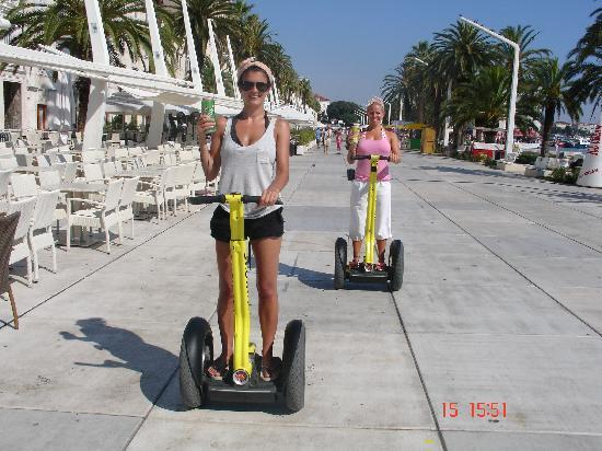 Segway Tour Split: lucy and hilary