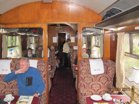 Jacobite Steam Train: First class carriage - The Jacobite