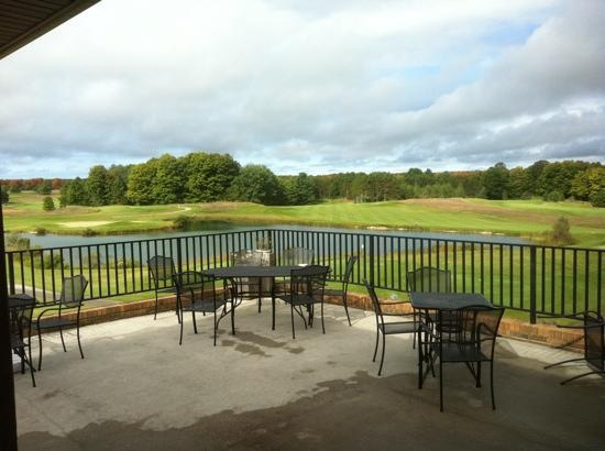 Mistwood Golf Course: View from the patio