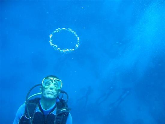 Scuba Hurghada Diving Center: Sayed blowing bubbles