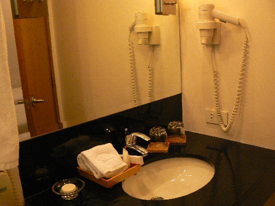 โรงแรมซิตี้ การ์เด้น สวีท: Bathroom sink