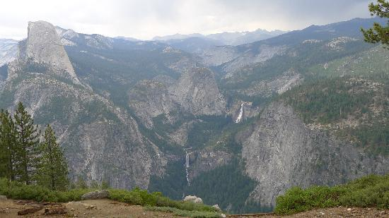 Vernal Fall: View of the falls from Glacier Point