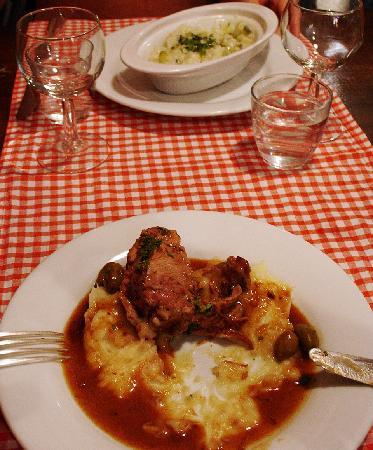 Chez Palmyre: Half-eaten dishes (sorry), taste was pretty good