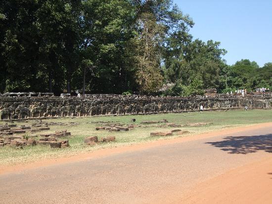 Terrace of the Elephants: テラス前の広場