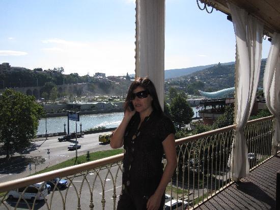 Hotel Ambasadori: Вид с террасы ресторана.