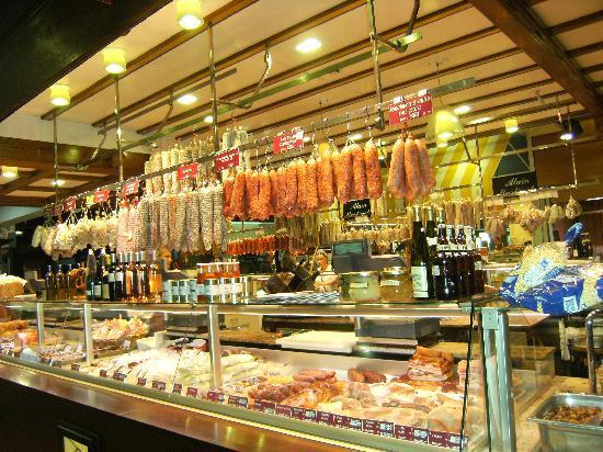 Les Halles de Lyon Paul Bocuse: some tasty meats and wine