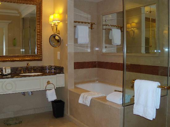 the bathroom is bigger than the bedroom in my apartment, a bathtub