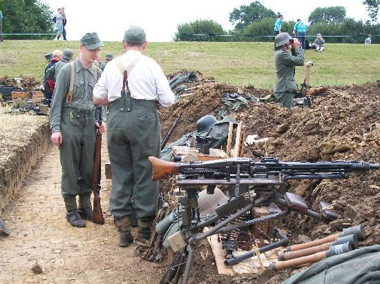 The Victory Show: Looking along the German trench