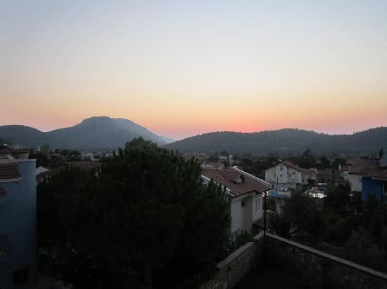 Orka Club Hotel & Villas: the view at sunset from the rear of the annex building