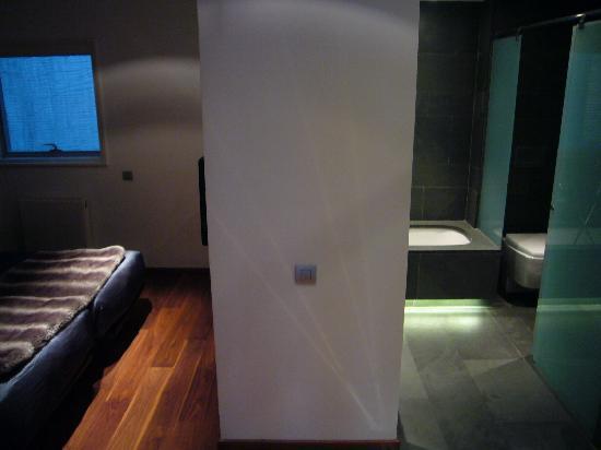 Ansicht Schlaf-/Badezimmer - keine Tuer - Bild von Suites Avenue ...