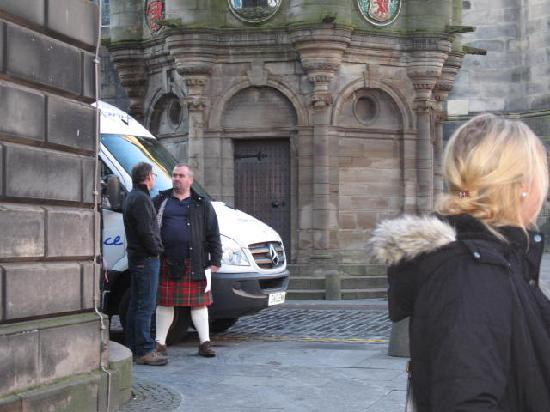 Highland Experience Tours: Our guide/driver (in kilt)
