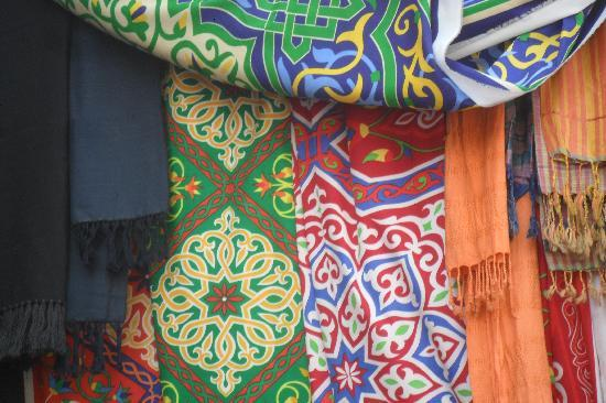 Sharia el Souk: Cloth in Aswan market
