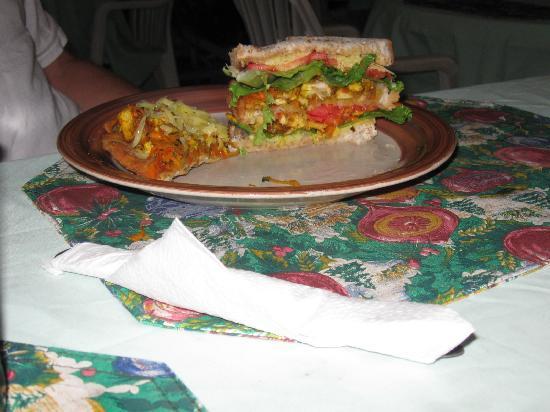 Sonia's: This is her chicken sandwich