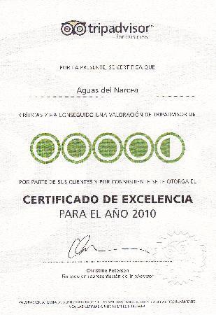 Aguas del Narcea: Certificado 2010