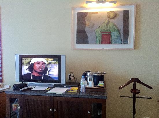 The Westin Dhaka: Yes, looking at the TV from another angle.  TV is very important as a friend of you in the room