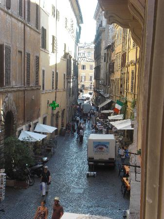 Locanda Navona: view from room to Piazza Navona